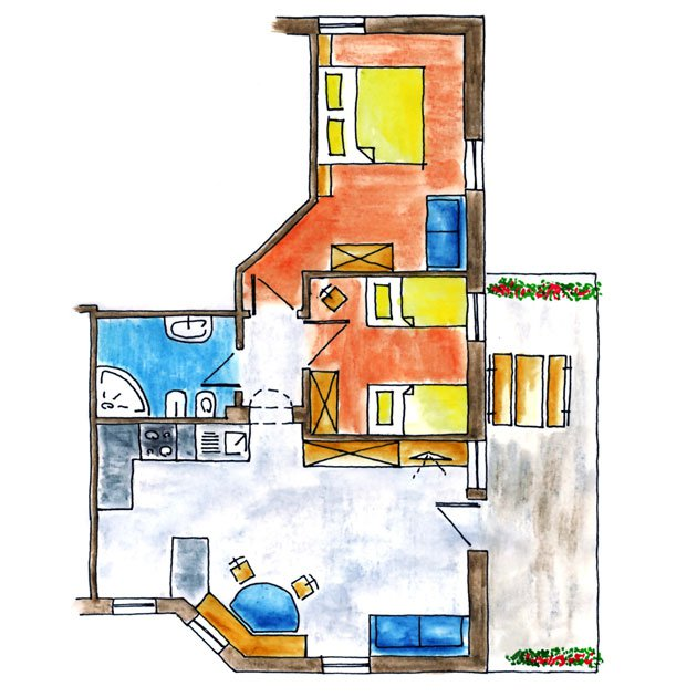 Floor plan Santner